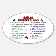 Saluki Property Laws 2 Oval Decal