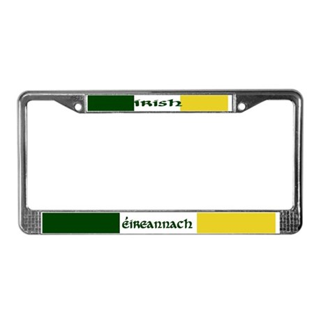 'Irish' in Gaelic & English License Plate Frame