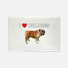 I Love Bulldogs Rectangle Magnet