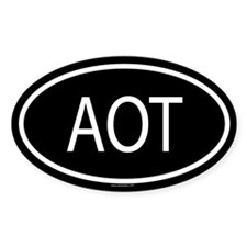AOT Oval Decal