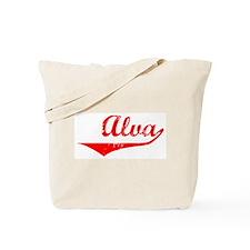 Alva Vintage (Red) Tote Bag