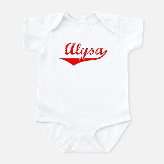 Alysa Vintage (Red) Infant Bodysuit