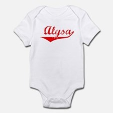 Alysa Vintage (Red) Onesie