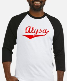 Alysa Vintage (Red) Baseball Jersey