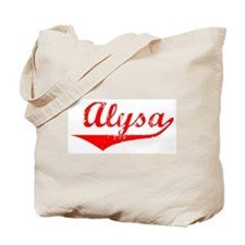 Alysa Vintage (Red) Tote Bag
