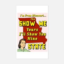 the show me state Rectangle Decal