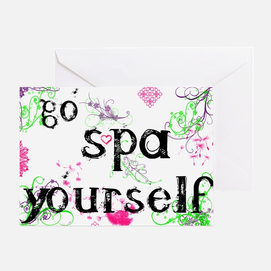 Spa Products Greeting Card