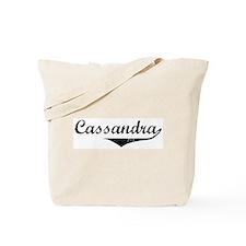Cassandra Vintage (Black) Tote Bag