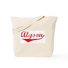Alyson Vintage (Red) Tote Bag