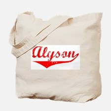Alyson Vintage (Red) Tote Bag