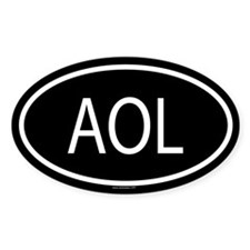 AOL Oval Decal