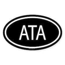 ATA Oval Decal