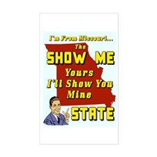 The Show Me State #2 Rectangle Decal