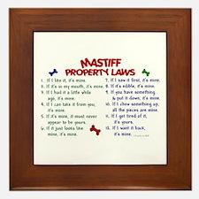 Mastiff Property Laws 2 Framed Tile