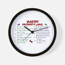 Mastiff Property Laws 2 Wall Clock