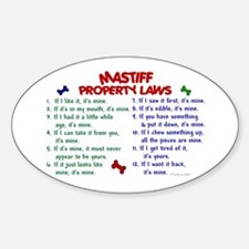 Mastiff Property Laws 2 Oval Decal