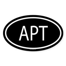 APT Oval Decal