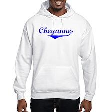 Cheyanne Vintage (Blue) Hoodie Sweatshirt