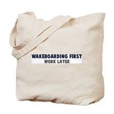 Wakeboarding First Tote Bag