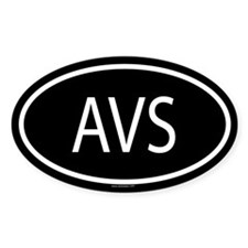 AVS Oval Decal