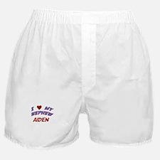 I Love My Nephew Aiden Boxer Shorts