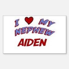 I Love My Nephew Aiden Rectangle Decal