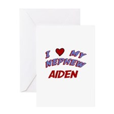 I Love My Nephew Aiden Greeting Card