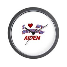 I Love My Nephew Aiden Wall Clock