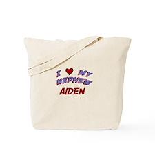 I Love My Nephew Aiden Tote Bag