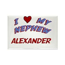 I Love My Nephew Alexander Rectangle Magnet