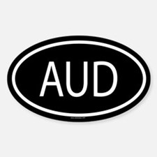 AUD Oval Bumper Stickers