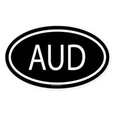 AUD Oval Decal