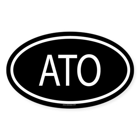 ATO Oval Sticker