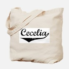 Cecelia Vintage (Black) Tote Bag