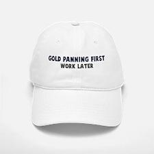 Gold Panning First Baseball Baseball Cap