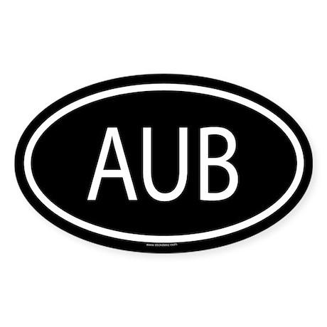 AUB Oval Sticker