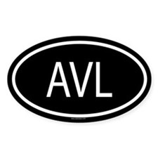 AVL Oval Decal