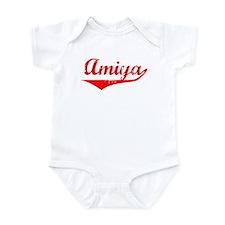 Amiya Vintage (Red) Infant Bodysuit