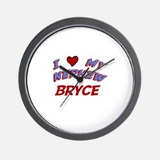 I Love My Nephew Bryce Wall Clock