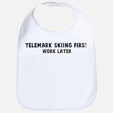 Telemark Skiing First Bib