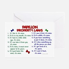Papillon Property Laws 2 Greeting Cards (Pk of 20)