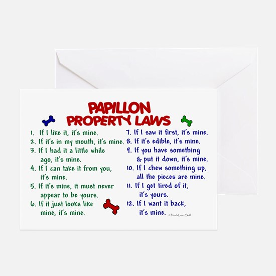 Papillon Property Laws 2 Greeting Card