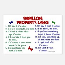 Papillon Property Laws 2 Postcards (Package of 8)