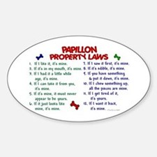 Papillon Property Laws 2 Oval Decal