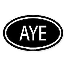 AYE Oval Decal