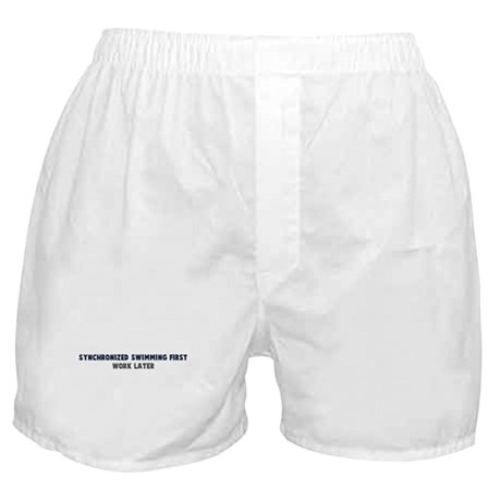 Synchronized Swimming First Boxer Shorts