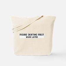 Figure Skating First Tote Bag