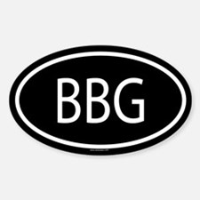 BBG Oval Decal