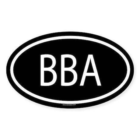 BBA Oval Sticker