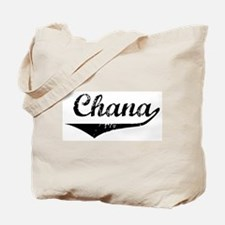 Chana Vintage (Black) Tote Bag